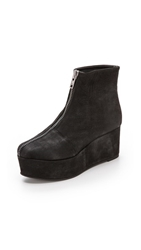 Won Hundred Wing Wedge Booties Black