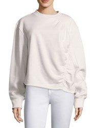 Public School Ashlei French Terry Sweatshirt Off White