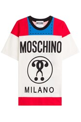 Moschino Printed Cotton T Shirt Multicolor