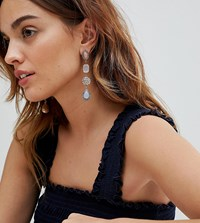 Accessorize Anabel Multi Gem Statement Drop Earrings Pastel Multi