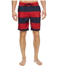 Nautica New Stripe Trunk Red Swimwear