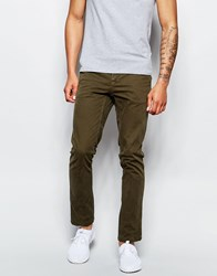 Pull And Bear Pullandbear Slim Fit Chinos Green