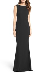 Katie May 'S Drape Back Crepe Gown Black