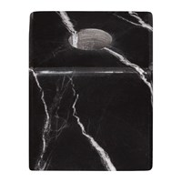 Stoned Marble Candle Block Black