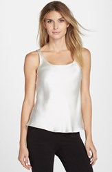 Josie Natori Women's Natori Double Layer Silk Camisole Warm White