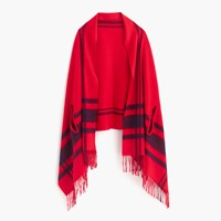 J.Crew Cape Scarf Red Navy