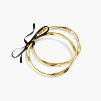 J.Crew Twisted Antiqued Gold Bangles Set Of Two