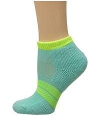 Thorlos 84 N Runner Micro Mini 3 Pair Pack Spearmint Electric Yellow Women's Low Cut Socks Shoes Blue
