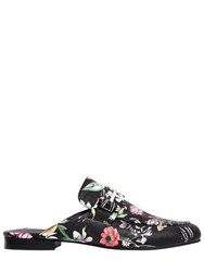 Steve Madden 10Mm Kera Floral Faux Leather Mules Black Multi