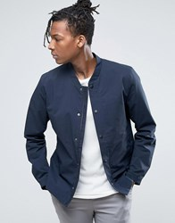 Selected Homme Light Weight Bomber Jacket Blue