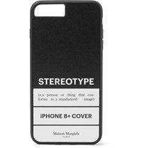 Maison Martin Margiela Printed Leather And Rubber Iphone 8 Case Black