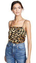 Club Monaco Burnout Cami Gold Multi