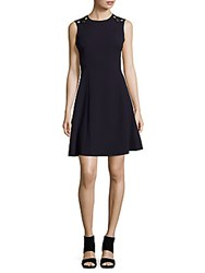 Calvin Klein Crewneck Sleeveless Dress Blue