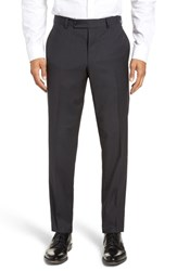 Ted Baker London Jefferson Flat Front Check Wool Trousers Brown