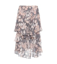 Jason Wu Ruffled Printed Silk Skirt Multicoloured