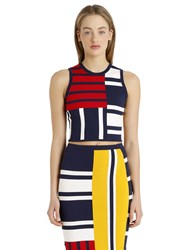 Tommy Hilfiger Gigi Hadid Patchwork Viscose Knit Top