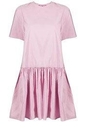 Valentino Bow Detail Flared Dress Pink