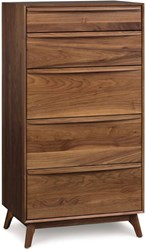 Copeland Furniture Catalina 5 Drawer Dresser 04 Natural Walnut Conventional Lacquer Multicolor