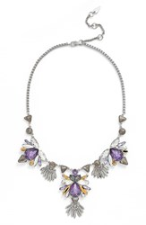 Women's Kent And King Frontal Jewel Necklace Grey