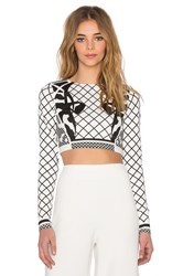 Aq Aq Deity Crop Top White