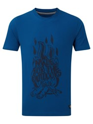 Tog 24 Galaxy Mens T Shirt Fire Print Blue