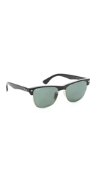 Ray Ban Oversized Clubmaster Sunglasses Black Crystal Green