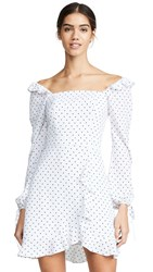 Ali And Jay In Bloom Polka Dot Mini Dress White Black Dot