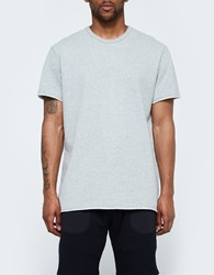 Reigning Champ Raw Edge Ss Crew In Heather Grey