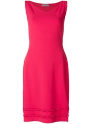 D.Exterior Sleeveless V Neck Dress Pink And Purple