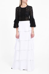Andrew Gn Women S Ruffle Sleeve Embroidered Blouse Boutique1 Black