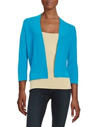 Ivanka Trump Diamond Textured Cardigan Sea Breeze