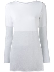 Fabiana Filippi Bicolour Jumper White
