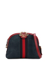 Gucci Ophidia Suede Shoulder Bag Blue