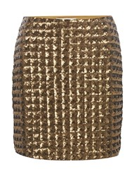Part Two Fashionbale Skirt Features Squared Sequins Metallic