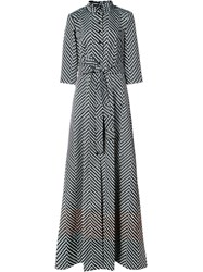 Carolina Herrera Spotted Trench Gown Silk Polyester Black