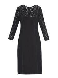 Rebecca Taylor Lace Trimmed Pencil Dress