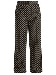 Ace And Jig Annie High Rise Wide Leg Cotton Trousers Black White