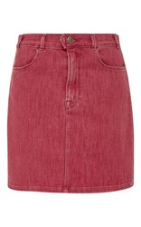 Frame Denim Le Color Pencil Skirt Red