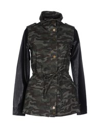 Duck Farm Coats And Jackets Jackets Women Military Green