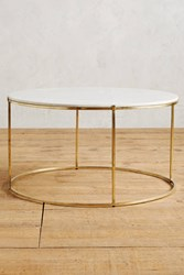 Anthropologie Leavenworth Marble Coffee Table Brass