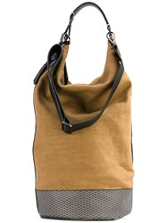Zanellato Bucket Shoulder Bag Women Calf Leather Canvas One Size Brown