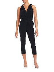 Thakoon Cropped Silk Jumpsuit Black