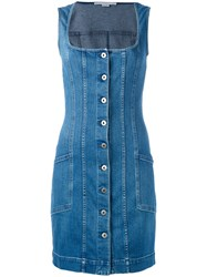 Stella Mccartney Sleeveless Denim Dress Blue