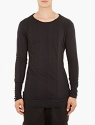 Thom Krom Black Double Layer Long Sleeved T Shirt