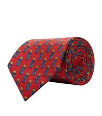 Polo Ralph Lauren Silk Bear Tie Red