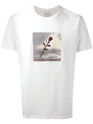 Resort Corps Rose Print T Shirt White