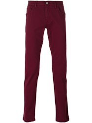 Dolce And Gabbana Slim Fit Trousers Men Cotton Spandex Elastane 44 Red