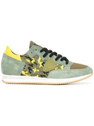 Philippe Model Camouflage Print Sneakers Green