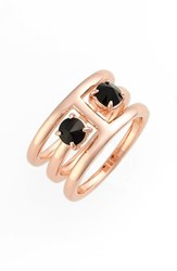 Women's Rebecca Minkoff 'Puzzle' Jewel Ring Jet Rose Gold