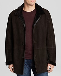 Maximilian Dyed Lamb Shearling Jacket With Leather Trim